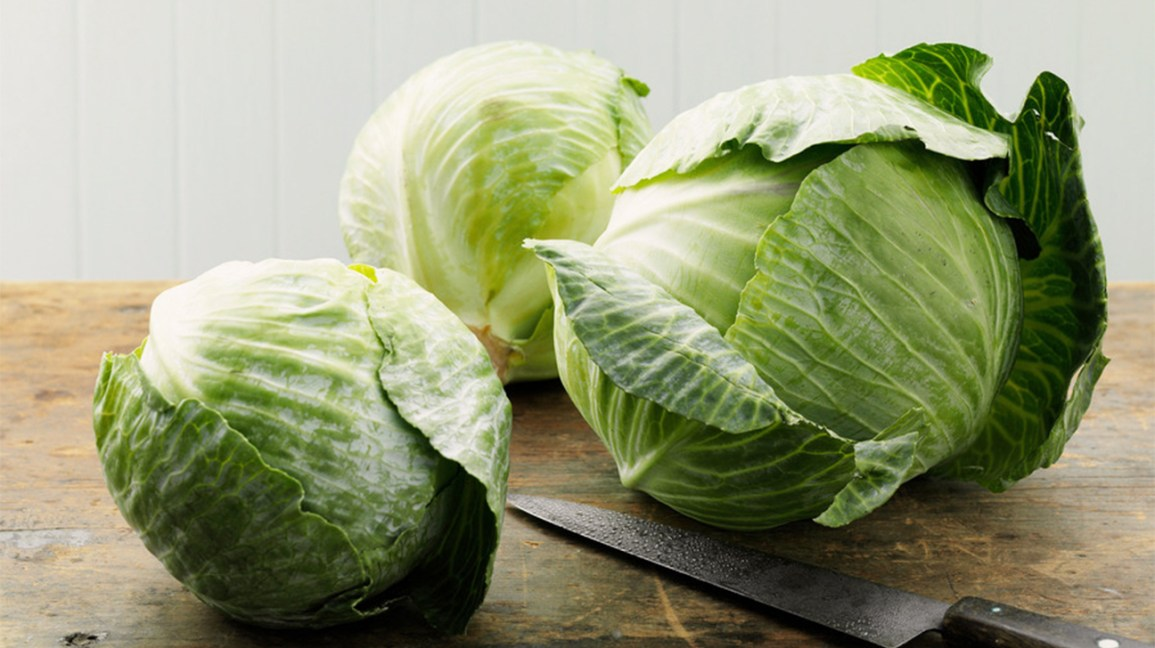 cabbages on a cutting board