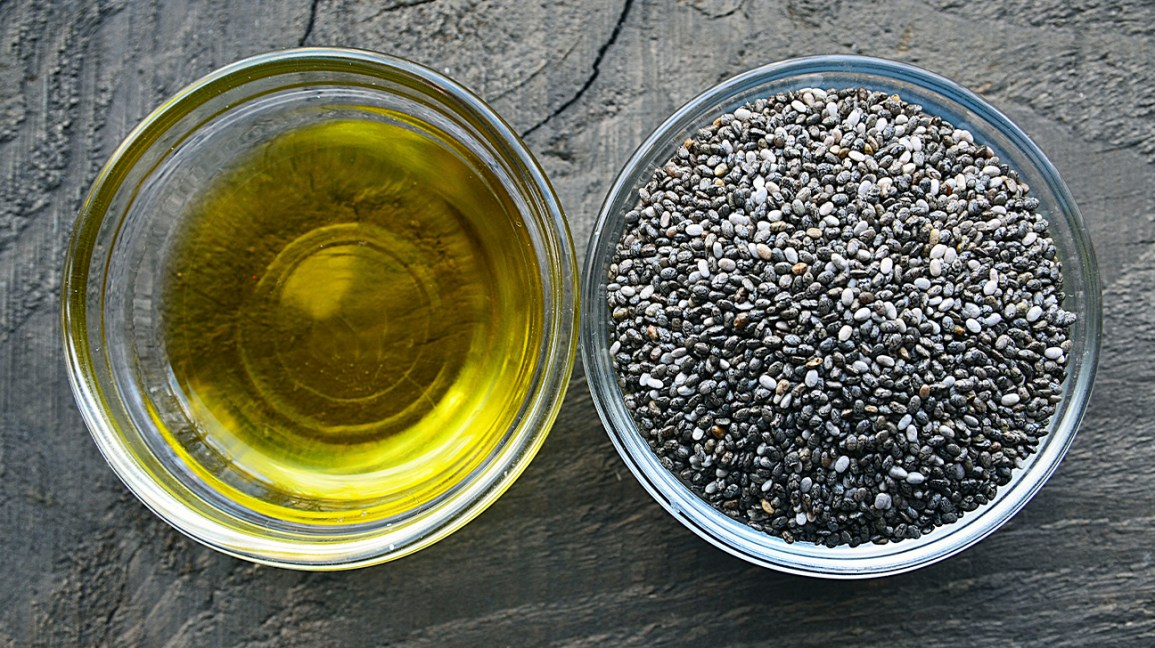 Chia seeds and chia seed oil