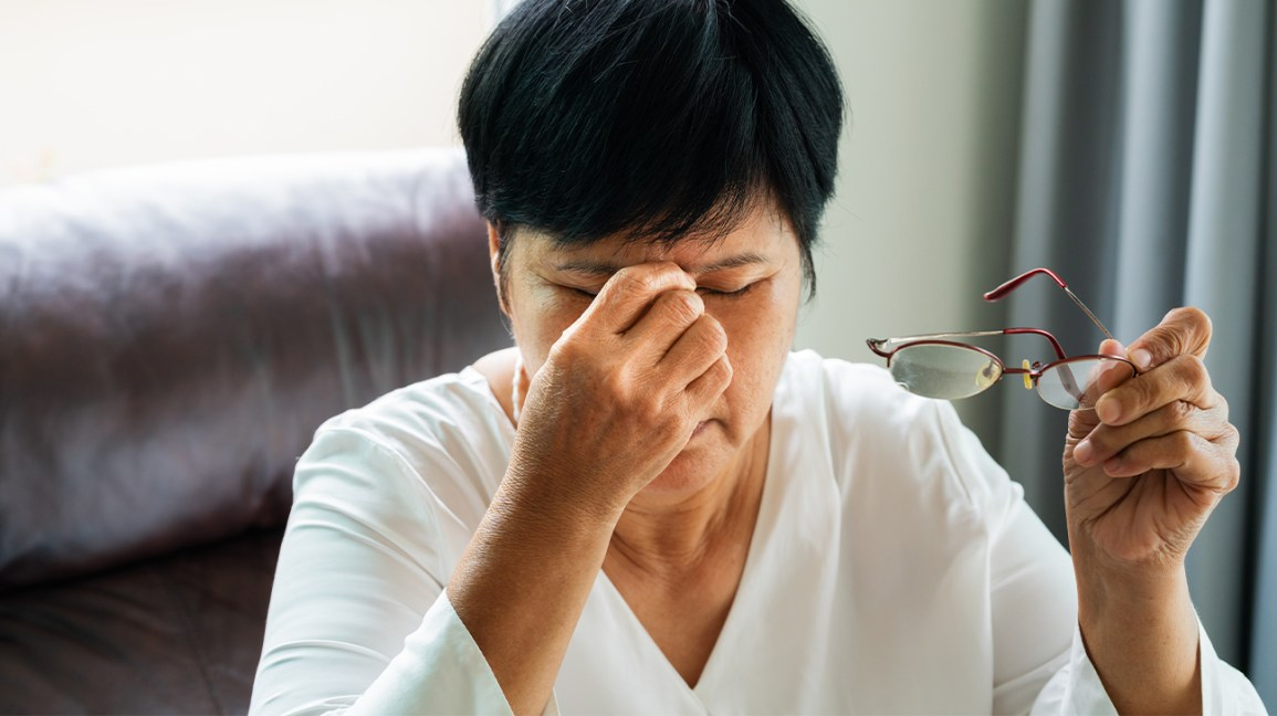 Person wondering if Rheumatoid Arthritis Affect the Eyes