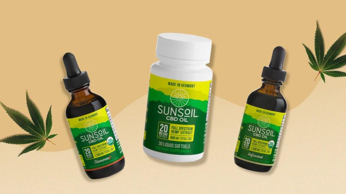 Óleo Sunsoil CBD e cápsulas