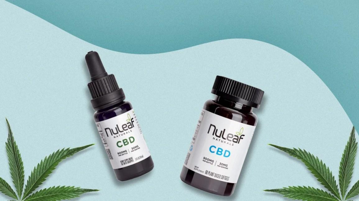 Óleo Nuleaf Naturals CBD e cápsulas