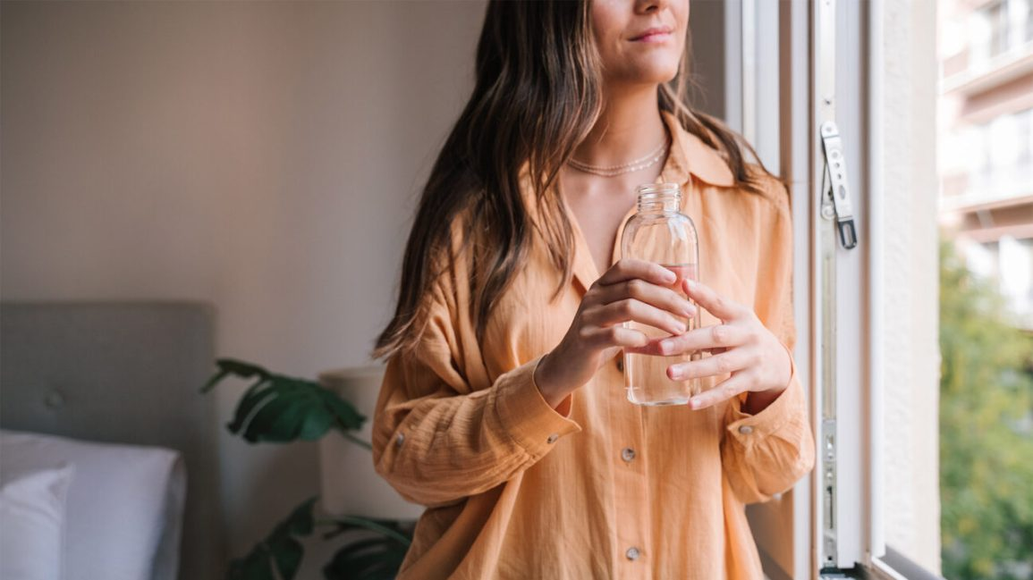 fighting anxiety by staying hydrated