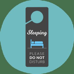 Fun Plus Sleeping Sign for Door
