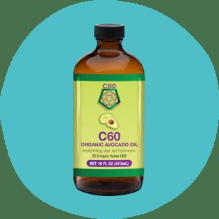 Immagine del prodotto C60 Purple Power della bottiglia di olio di avocado biologico