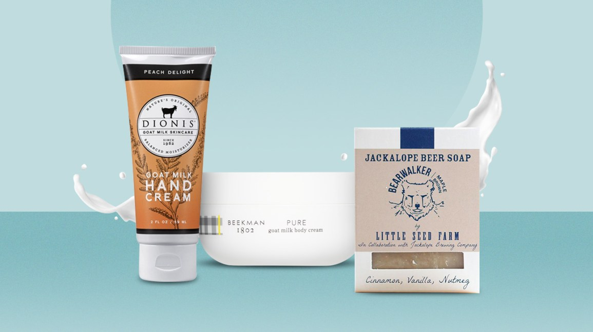 Goat milk skincare products