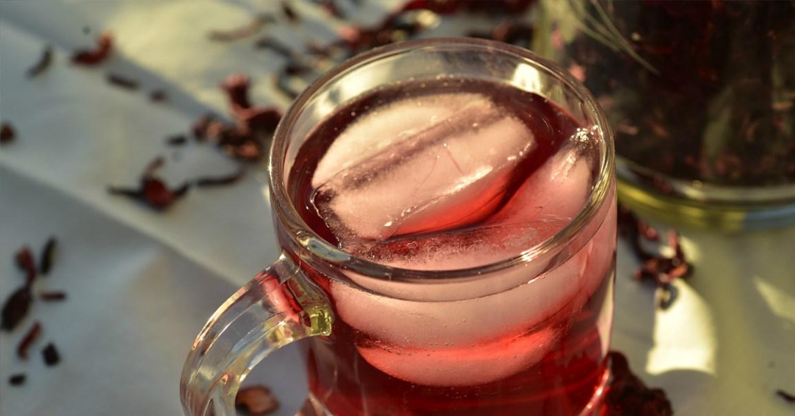 Hibiscus buzlu çay