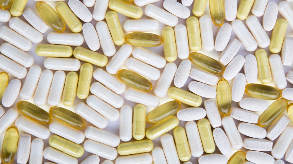 White and yellow pills