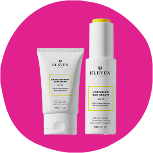 EleVen by Venus Williams On-The-Defense Sunscreen and Unrivaled Sun Serum
