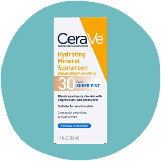 CeraVe Hydrating Mineral Sunscreen Face Sheer Tint