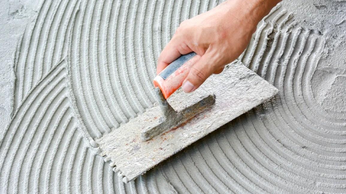 concrete burns, cement burn, cement being laid