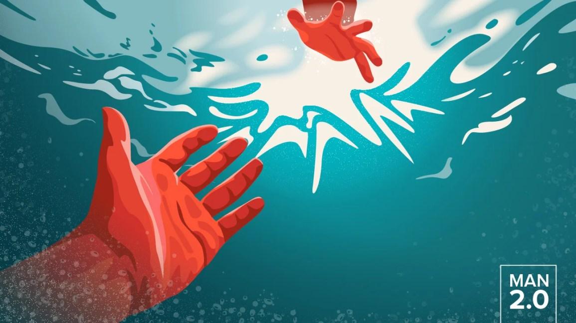 Aiutare la mano a raggiungere l'acqua