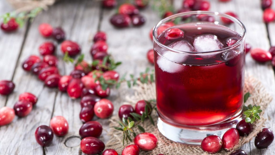 cranberries with cranberry juice
