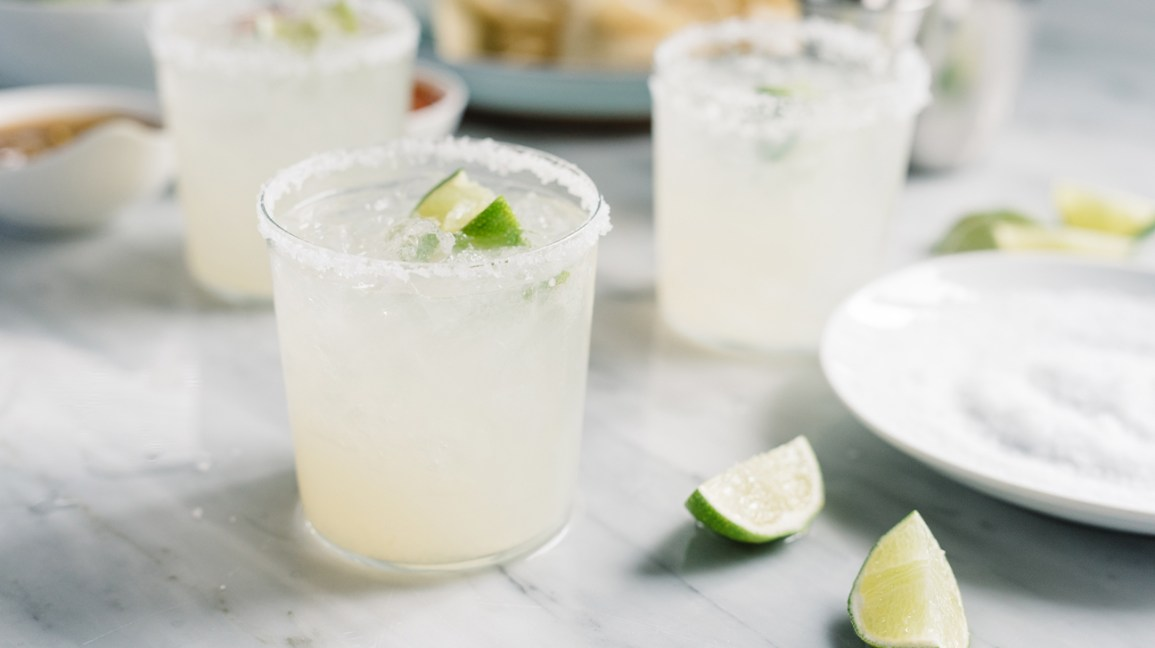tequila margaritas with lime