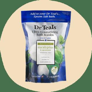Dr. Teal's Ultra Moisturizing Bath Bomb, Eucalyptus & Spearmint