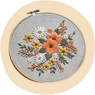 The Cherry Blossom US DIY Embroidery Kit