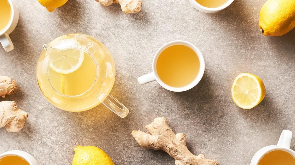 té de limón y jengibre
