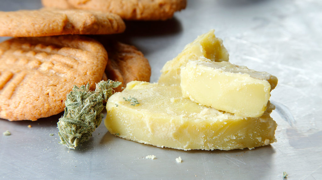 marijuana butter and cookies that are edible and may have effects on the body