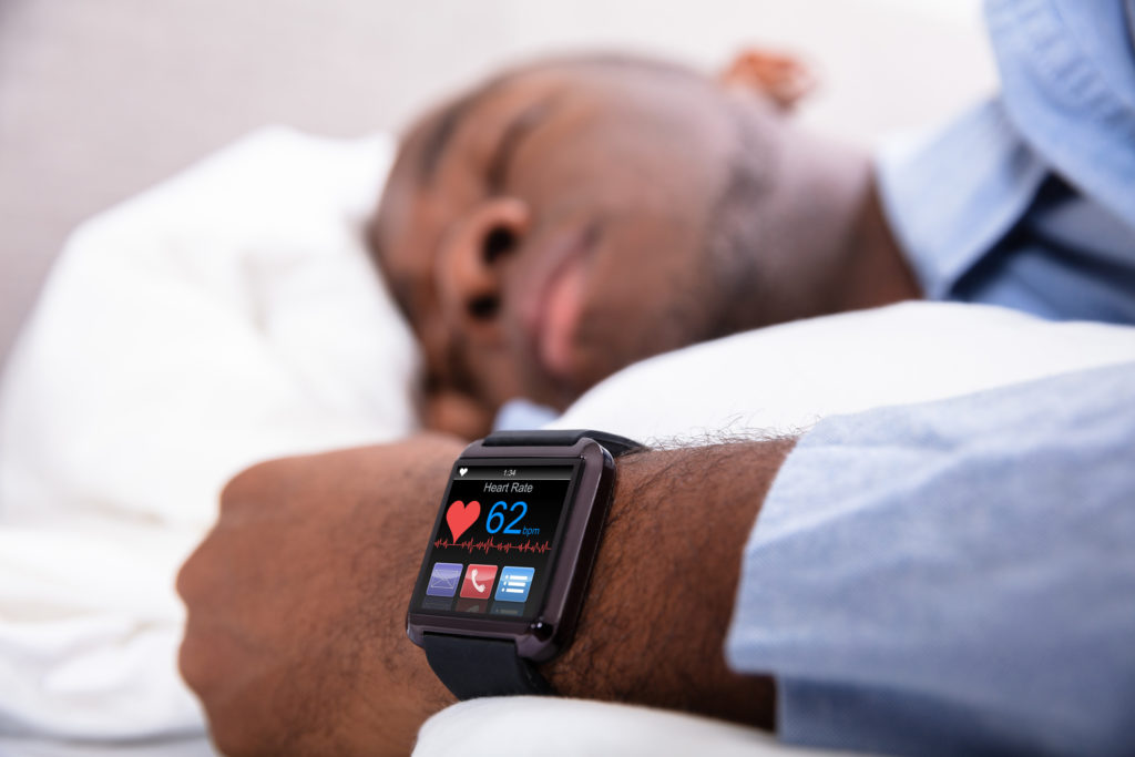 Measuring heart rate while asleep
