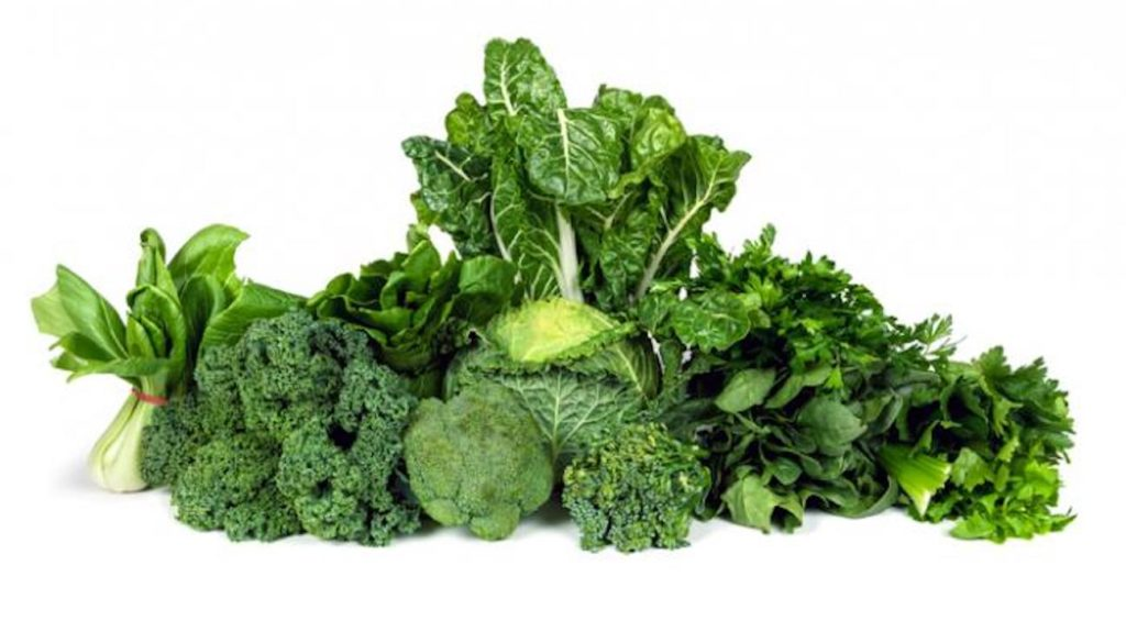 A picture of green vegetables.