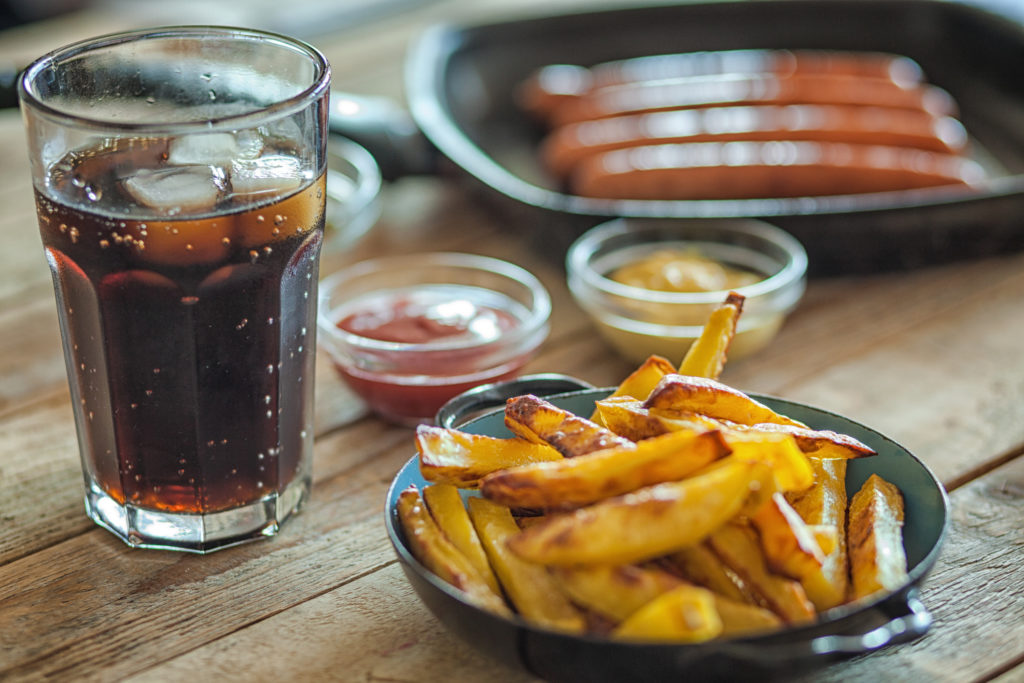 fries and soft drink