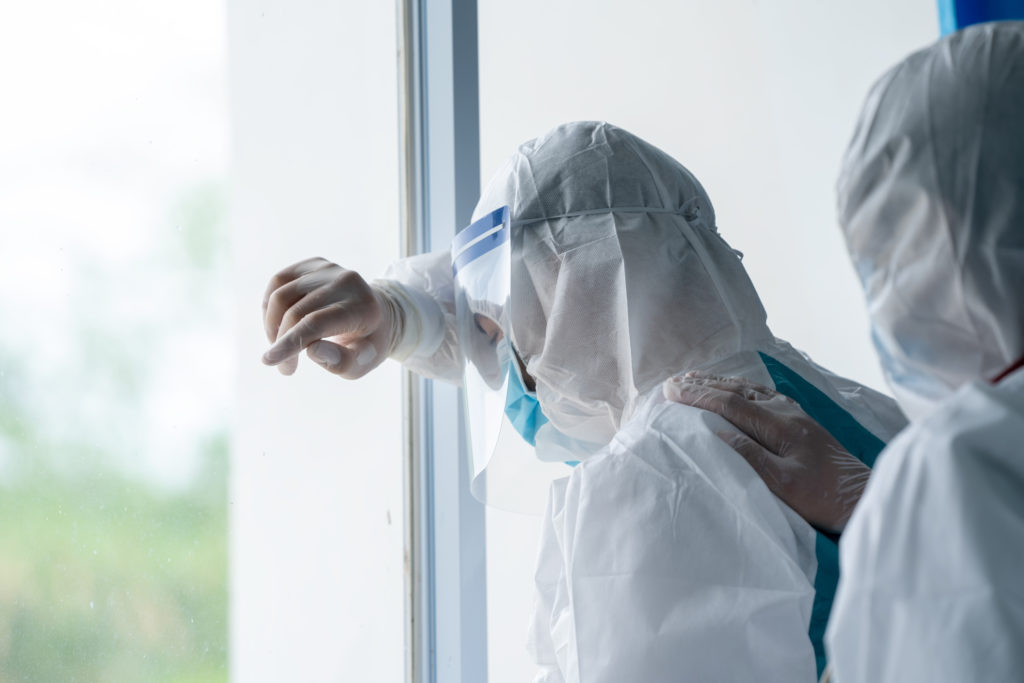 healthcare workers at risk of PTSD during COVID-19 pandemic