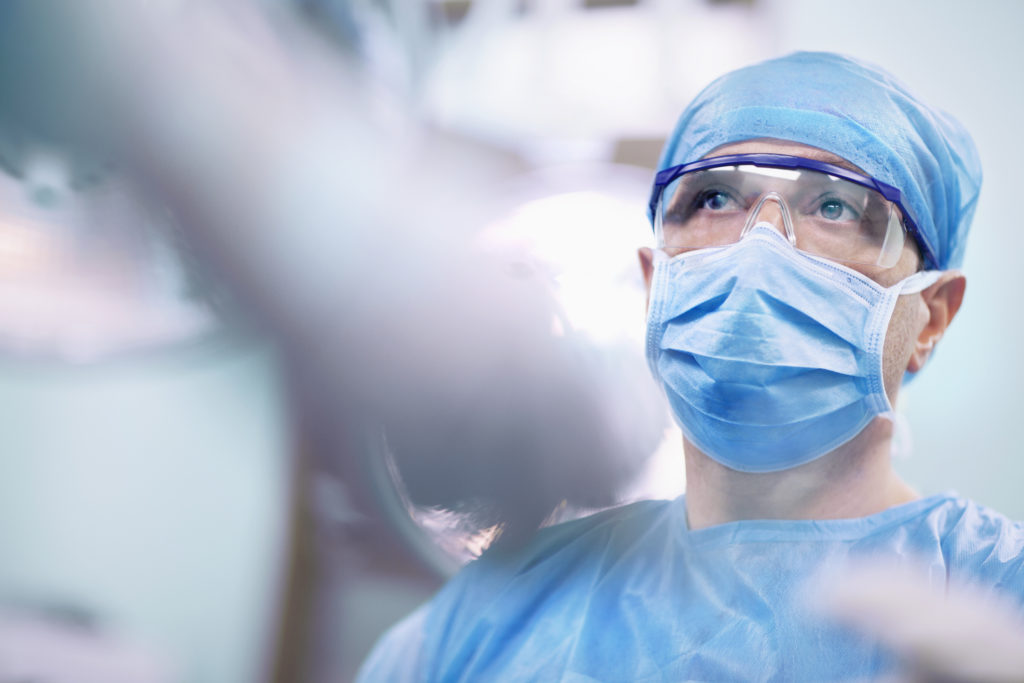 doctor wearing surgical face mask