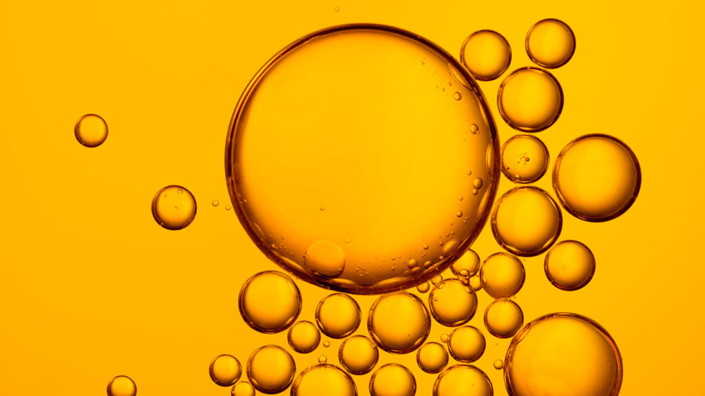 bubble as oil used to illustrate baby oil which may be used as lube
