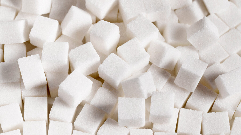 Sugar cubes, to accompany an article about a sugar pregnancy test.