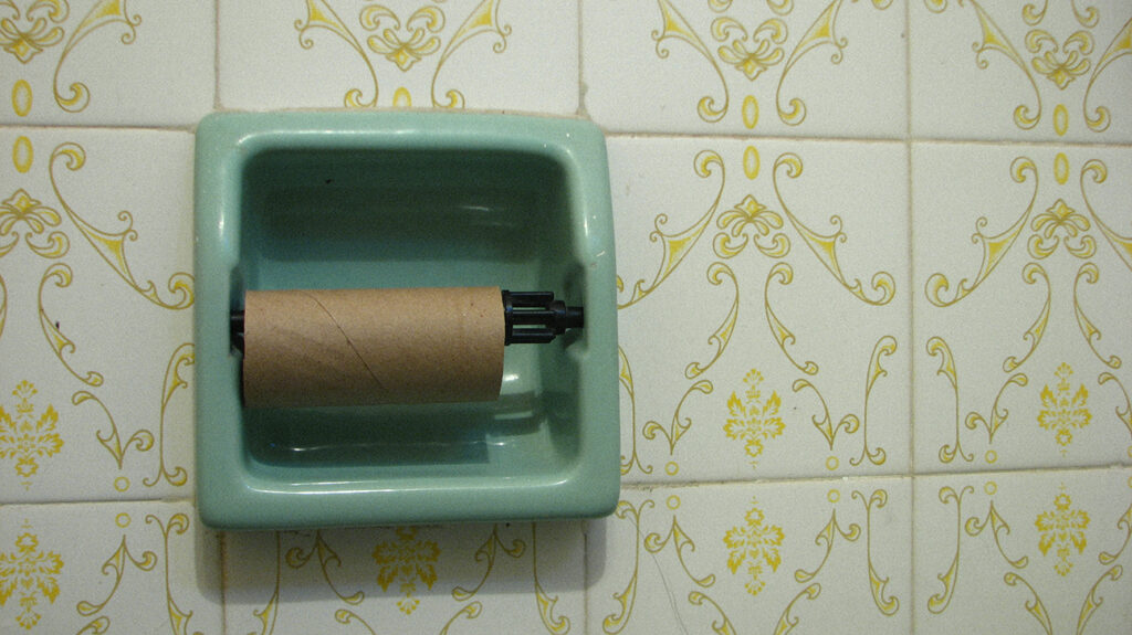 Empty loo roll because someone has been pooping too much
