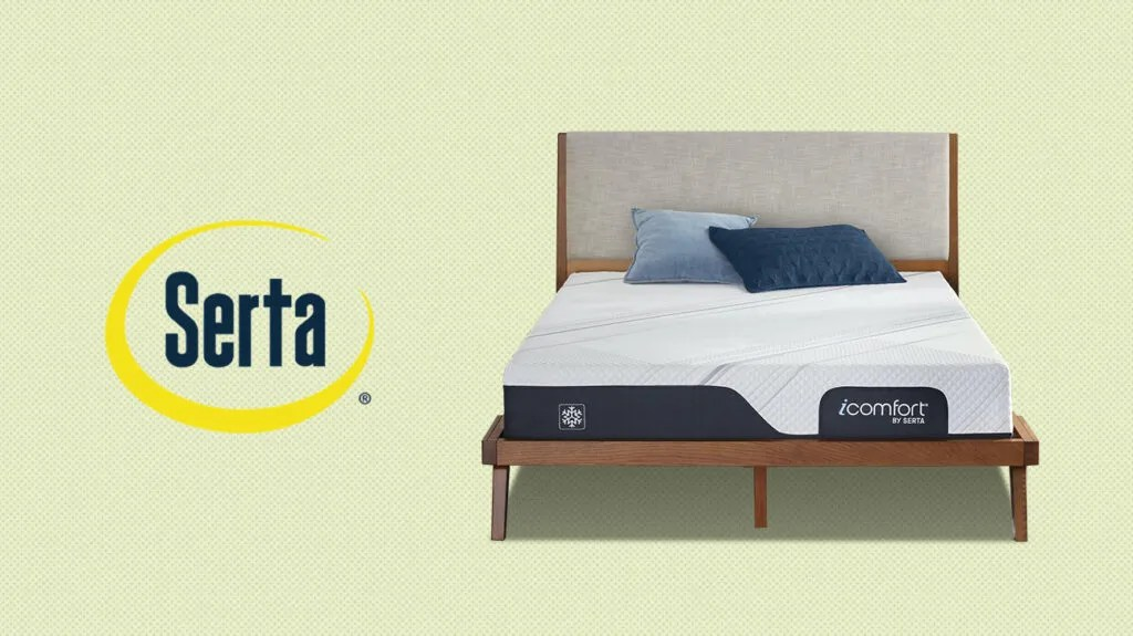 Serta mattress on a bed