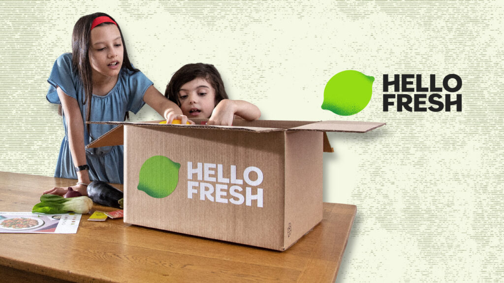 hello fresh box with two children
