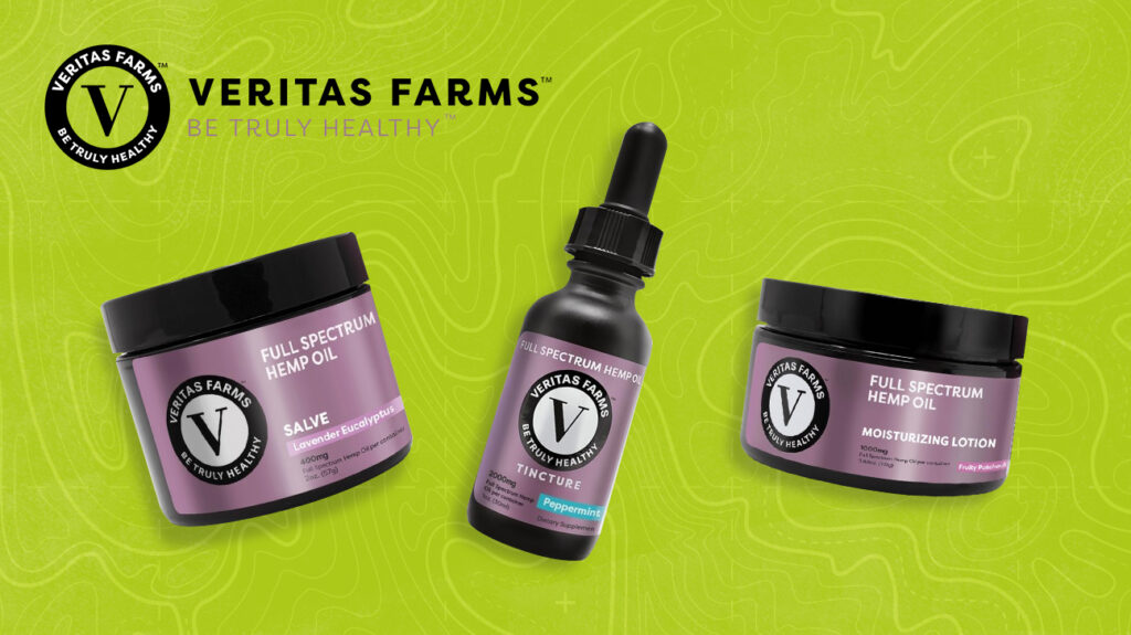 A selection of some of the best CBD products from Veritas Farms.