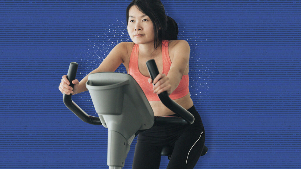 a woman on one of the best Cheap exercise options