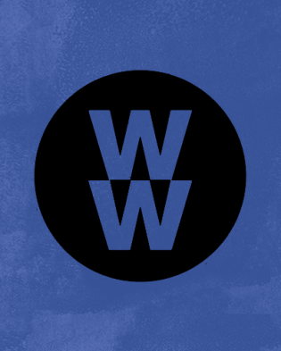 weight watchers logo over blue background