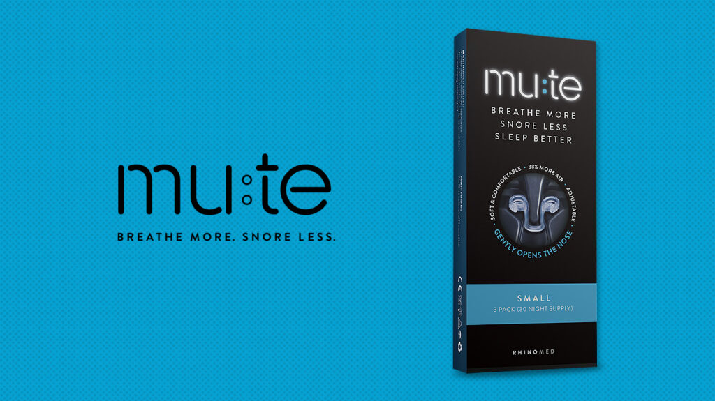 An image of the Mute anti-snoring device.