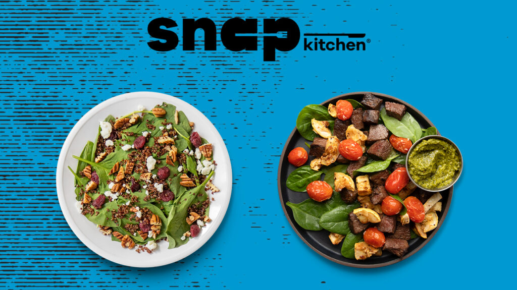 An image of some meals available from Snap Kitchen.