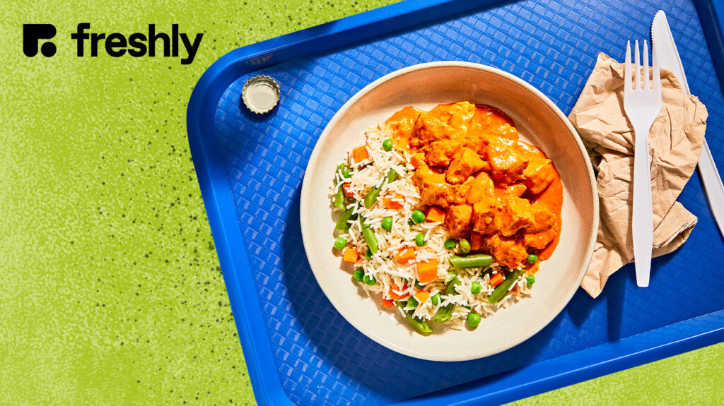 An image of a meal from Freshly meal delivery service.