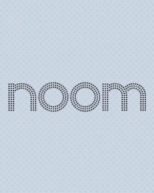 Noom logo over gray background