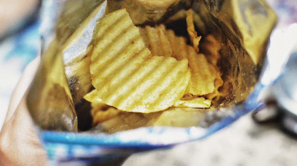 inside of a bag of chips