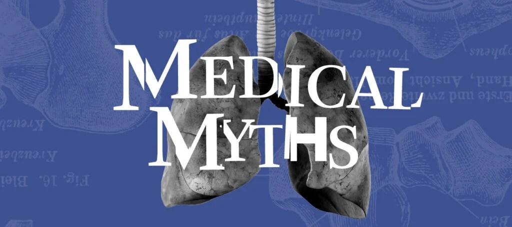 医疗神话标志与肺部