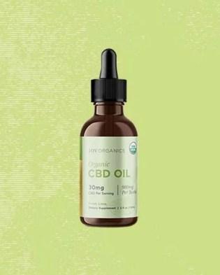Joy Organics Organic CBD Tincture.