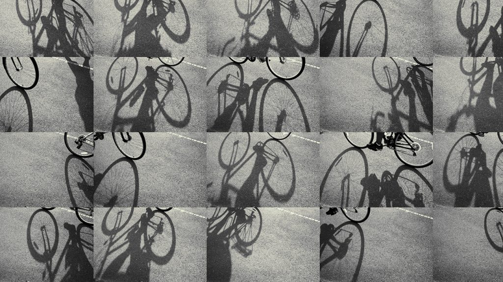 Images of people cycling to improve their health.