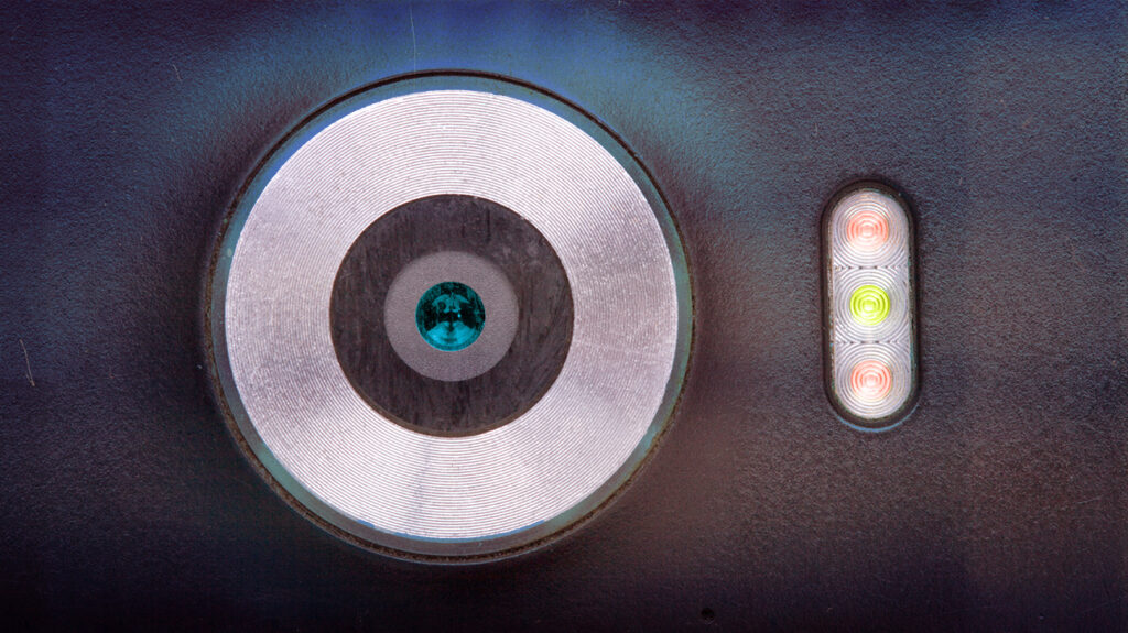 close up of a smartphone camera