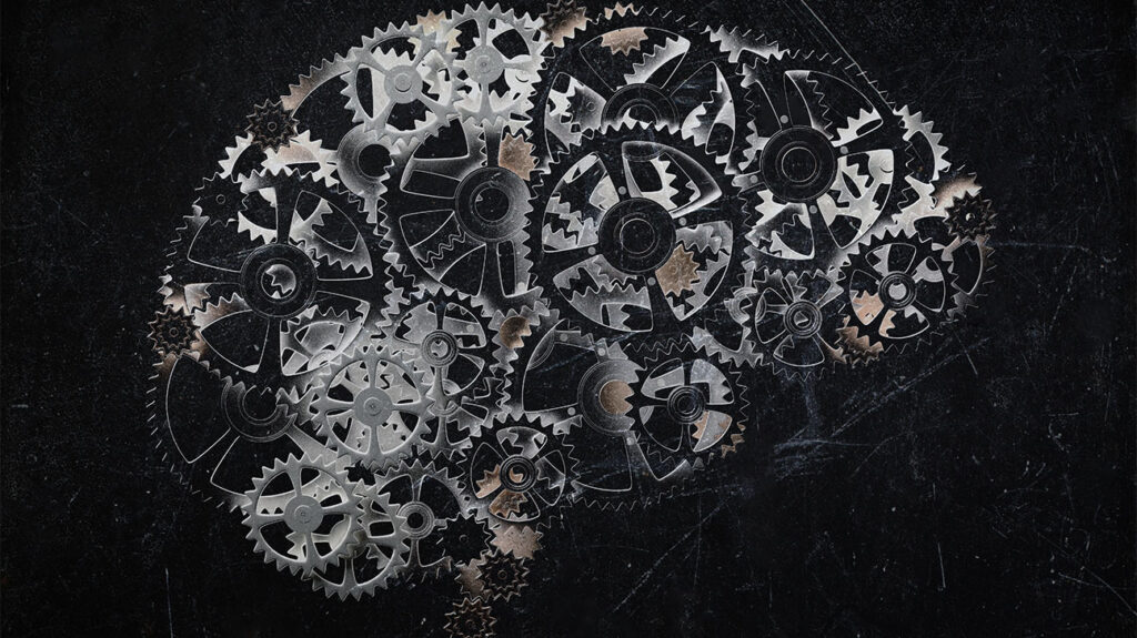 Brain made out of multiple cogs