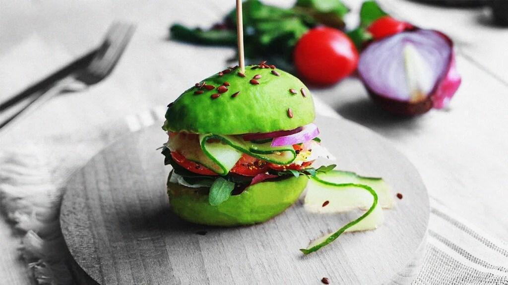 Healthy green vegan burger