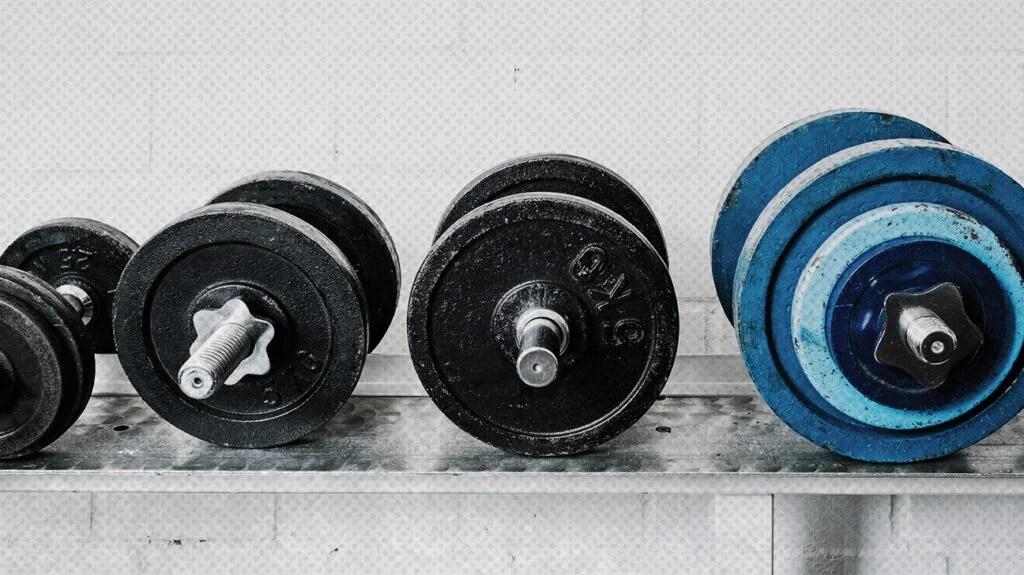 close up of various weights