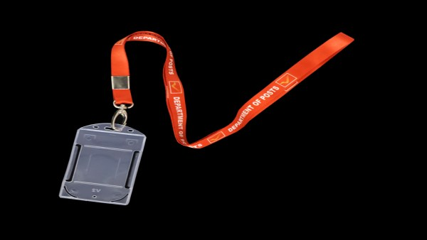 Vertical id card holder for dop employee