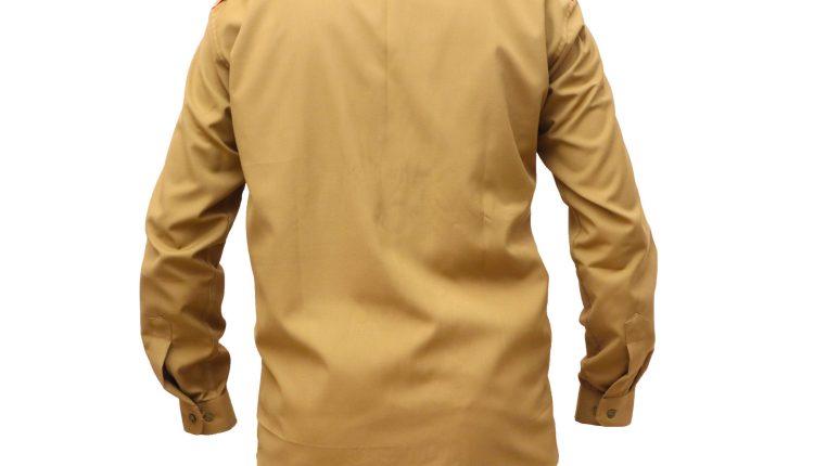 postman khaki shirt full sleeve back side