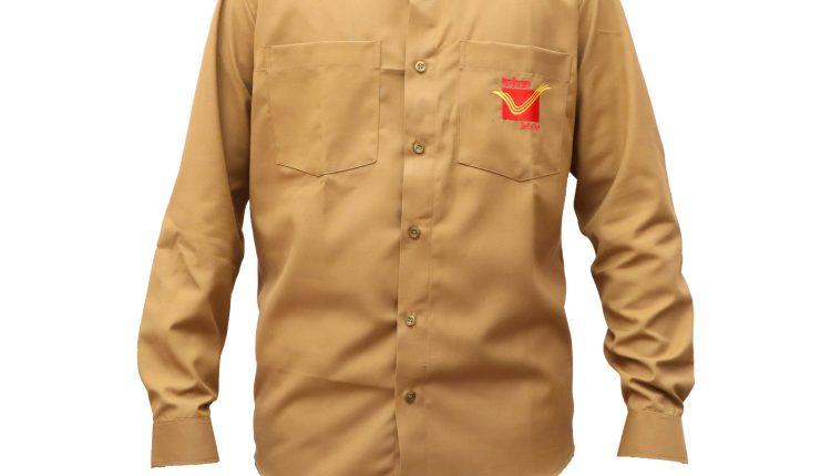 postman khaki shirt front