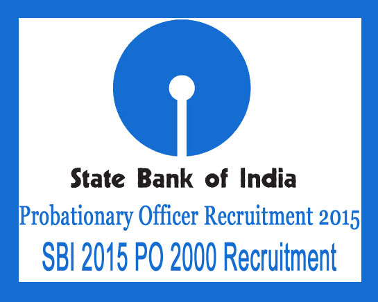 SBI PO application form 2015